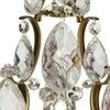 Rococo style wall sconce in amber coloured brass with clear cracked crystals gustavian style treniq 1 1522622420518
