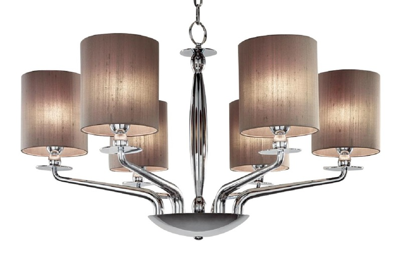 6 lamp polished chrome chandelier gustavian style treniq 1 1522667101808