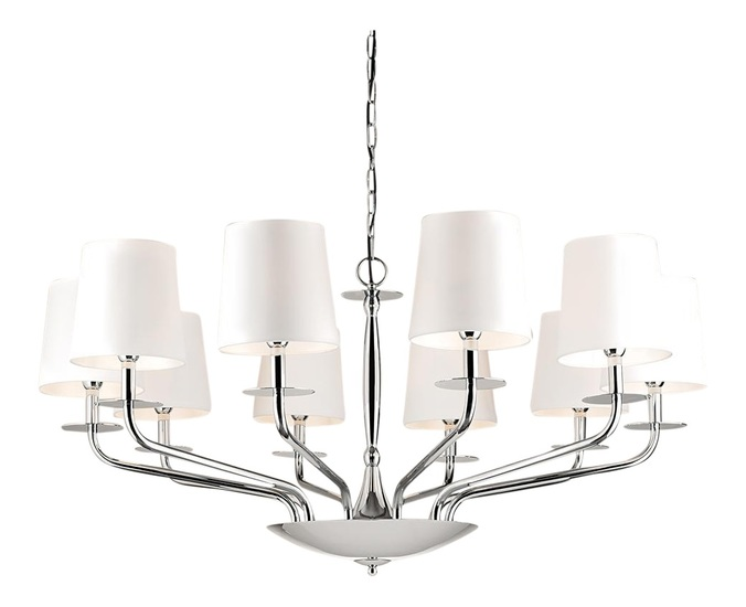 10 lamp polished chrome chandelier gustavian style treniq 1 1522667212466