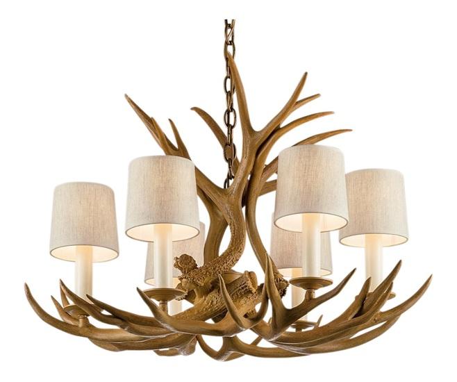 Natural antler light gustavian style treniq 1 1522670499412