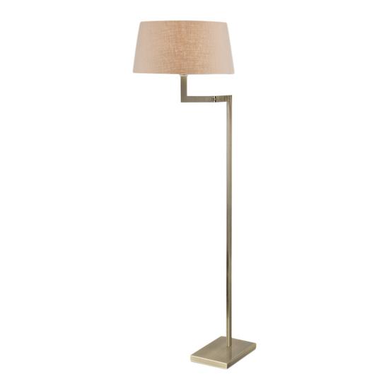 Antique brass floor lamp with swing arm gustavian style treniq 1 1522671455932