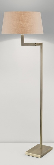 Antique brass floor lamp with swing arm gustavian style treniq 1 1522671455948