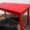 George bright red stained new pine bar or dining table with distressed zinc carla muncaster treniq 1 1522917847978