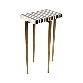 TB Stripe Side Table - Ginger Brown - Treniq