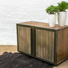 Louisa reclaimed scaffolding board media unit with slatted wood and perfora carla muncaster treniq 1 1522918331422