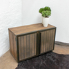 Louisa reclaimed scaffolding board media unit with slatted wood and perfora carla muncaster treniq 1 1522918319878