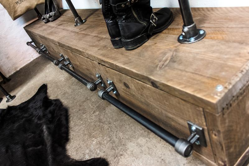 Stefan reclaimed scaffolding   steel pipe 3 sided industrial open wardrobe  carla muncaster treniq 1 1523005383766