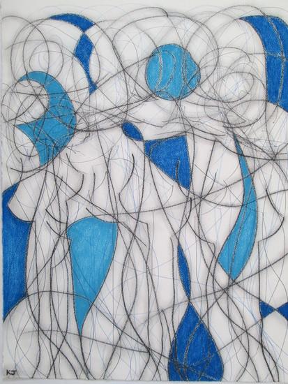 Two colour abstract no.2 kevin jones treniq 1 1523044461724