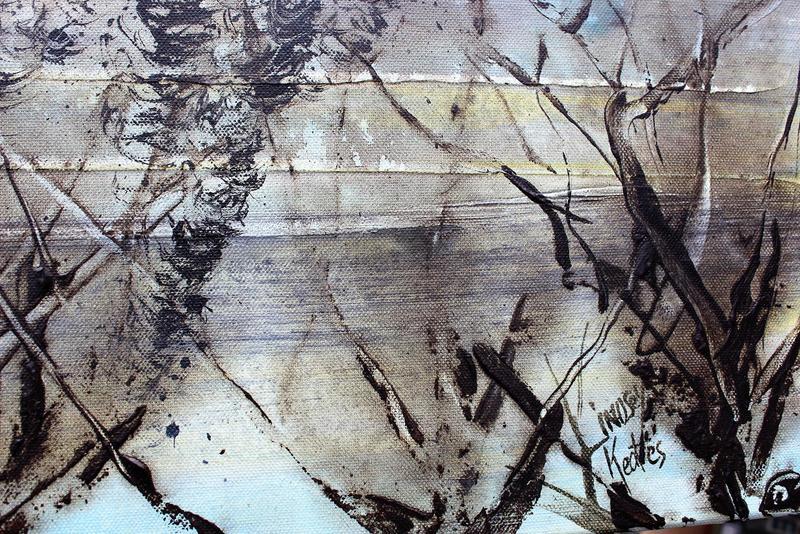 Skyfall mist semi abstract painting 20 x 40%22 lindsey keates environmental artist  treniq 1 1523202941385