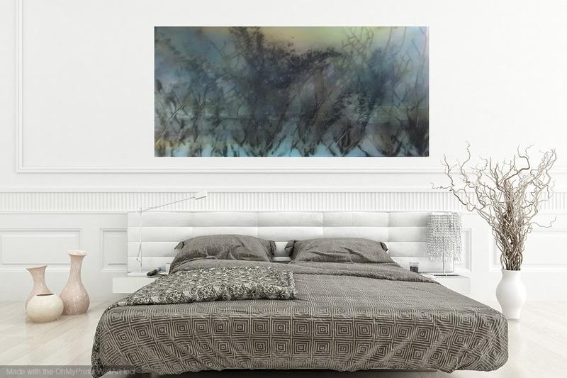 Skyfall mist semi abstract painting 20 x 40%22 lindsey keates environmental artist  treniq 1 1523203023821