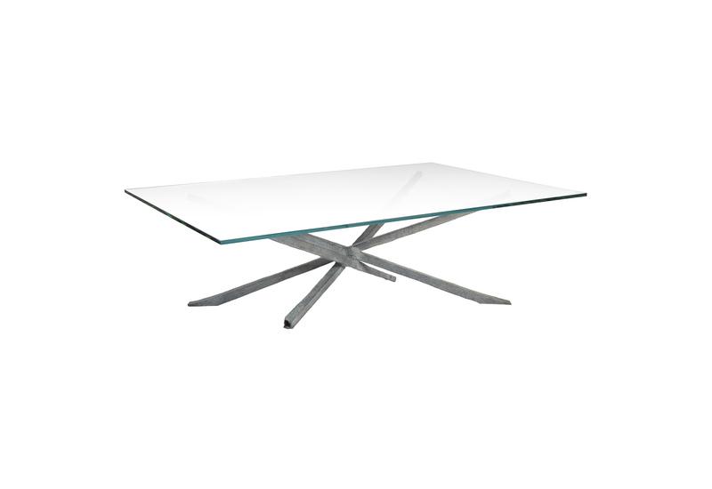 Textured coffee table candide bronze treniq 1