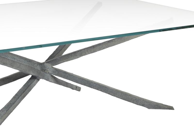 Textured coffee table candide bronze treniq 4