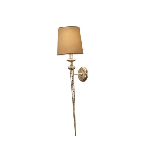 Florentine antique silver leaf wall lamp gustavian style treniq 2 1524225949780