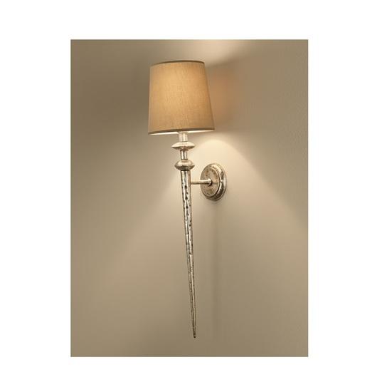 Florentine antique silver leaf wall lamp gustavian style treniq 2 1524225952778