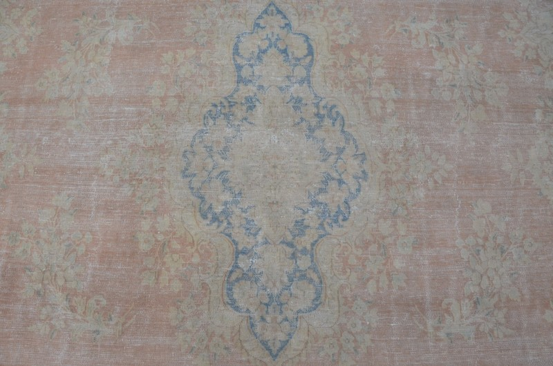 Pink vintage kirman sheared thin pile rug talam   khaadi treniq 1 1524233764424
