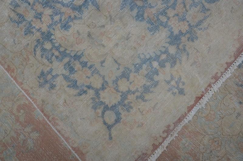 Pink vintage kirman sheared thin pile rug talam   khaadi treniq 1 1524233764425