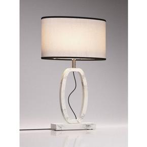 White Marble Table Lamp Oval - Matlight Milano - Treniq
