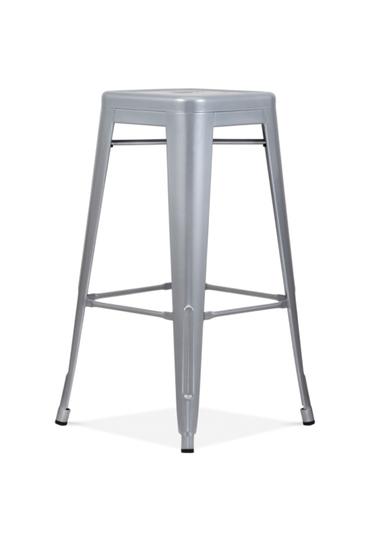 Bistro bar stool silver grey metal  set of four cielshop treniq 1 1525180449438