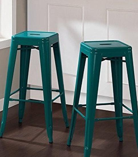 Teal industrial metal bar stool cielshop treniq 1 1525184039871