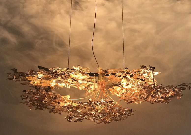 Copper leaf chandelier jonathan coles lighting studio treniq 1 1526459419594
