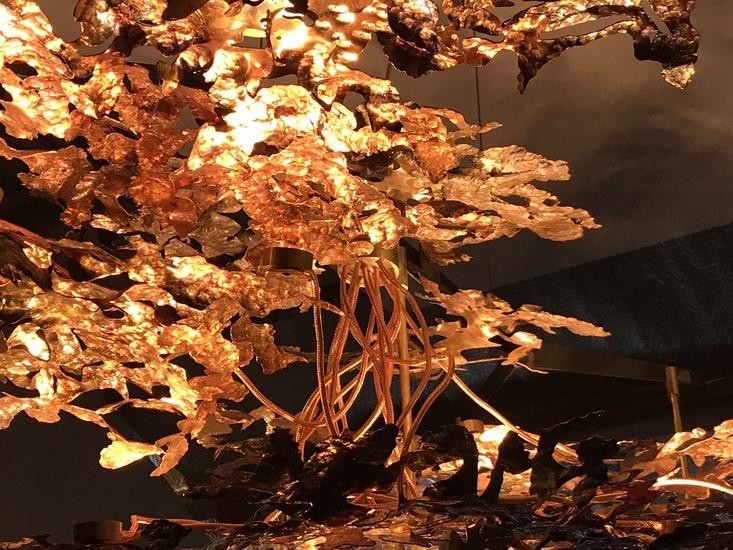 Copper leaf chandelier jonathan coles lighting studio treniq 1 1526459426374