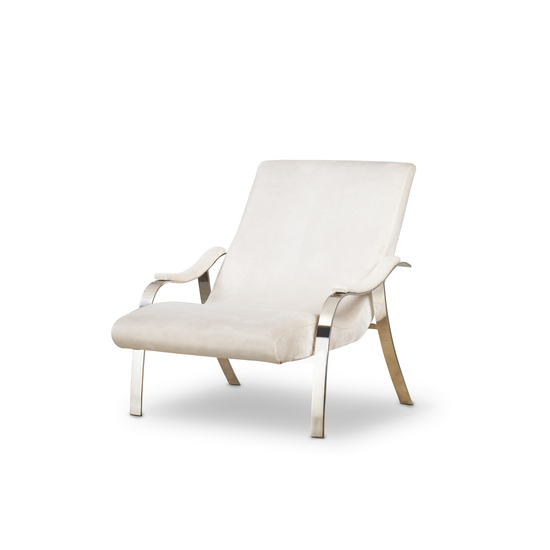 Mantis lounge chair harry velvet natural  sonder living treniq 1 1526638193246