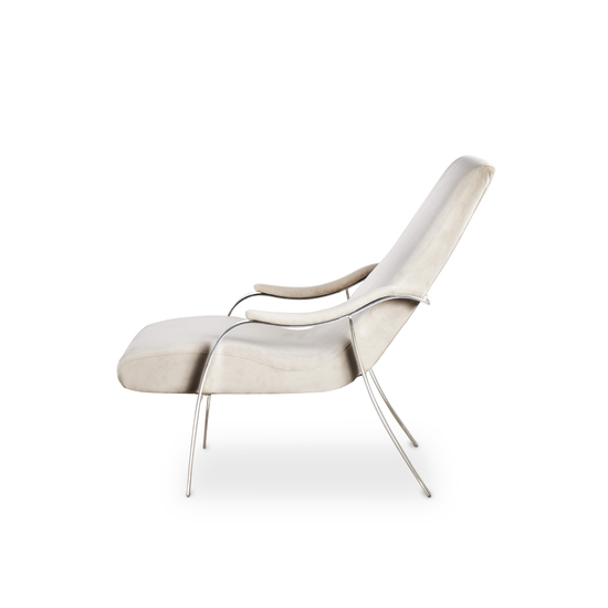 Mantis lounge chair harry velvet natural  sonder living treniq 1 1526638193264