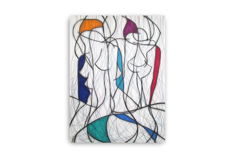 Seven colour abstract vi kevin jones treniq 1
