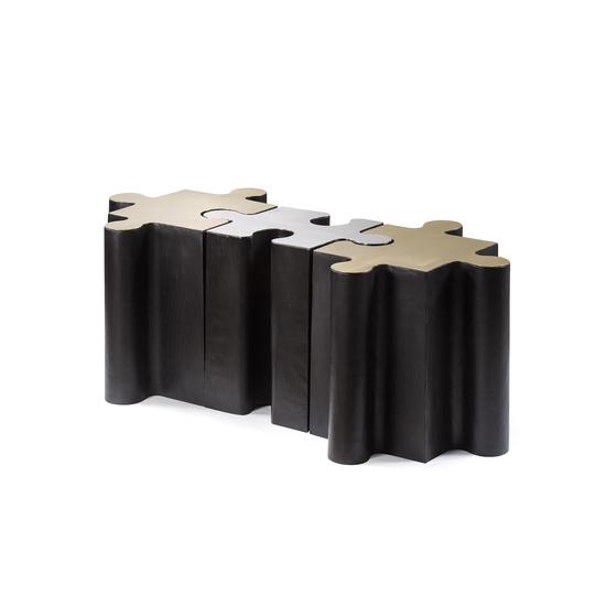 Metal jigsaw coffee table  sonder living treniq 1 1526643637886