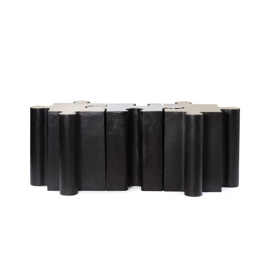 Metal jigsaw coffee table  sonder living treniq 1 1526643637912