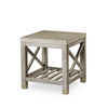 Percival side table shagreen top champagne shagreen   grey washed  sonder living treniq 1 1526644088717