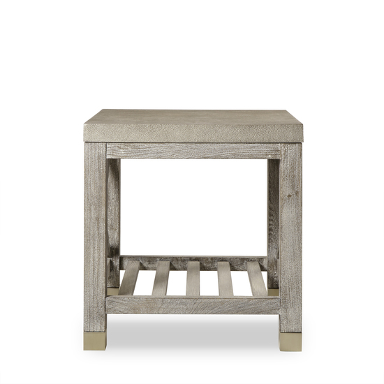 Percival side table shagreen top champagne shagreen   grey washed  sonder living treniq 1 1526644088726