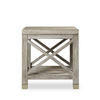 Percival side table shagreen top champagne shagreen   grey washed  sonder living treniq 1 1526644122119