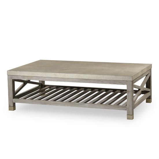 Percival coffee table shagreen top champagne shagreen   grey washed  sonder living treniq 1 1526644150635