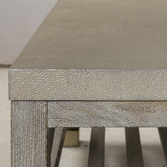 Percival coffee table shagreen top champagne shagreen   grey washed  sonder living treniq 1 1526644150640