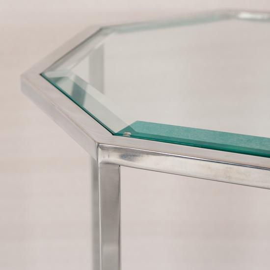 Hexagonal accent table  sonder living treniq 1 1526645064608