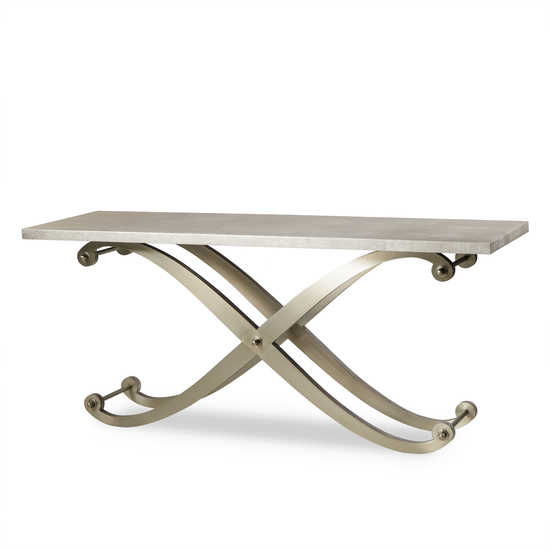 Elizabeth console table shagreen top ss legs  sonder living treniq 1 1526645151646