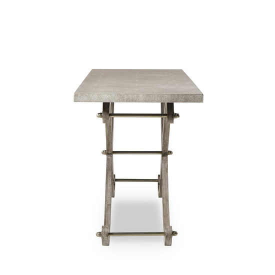 Elizabeth console table shagreen top ss legs  sonder living treniq 1 1526645179921