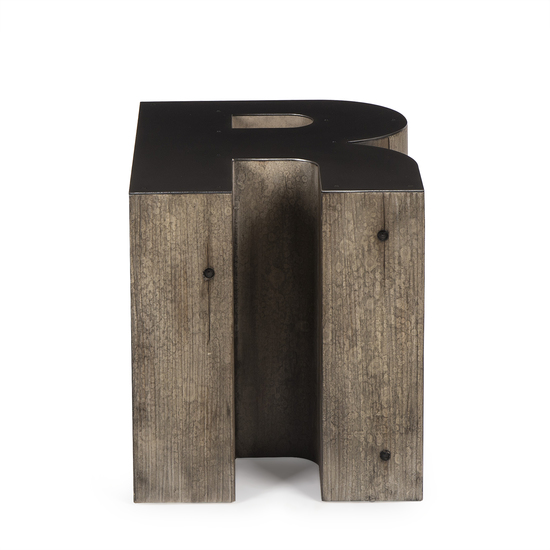 Alphabet side table letter r  sonder living treniq 1 1526646227728