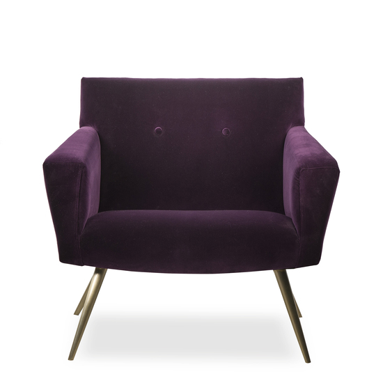 Kelly occasional chair vadit deep purple (uk)  sonder living treniq 1 1526881057218