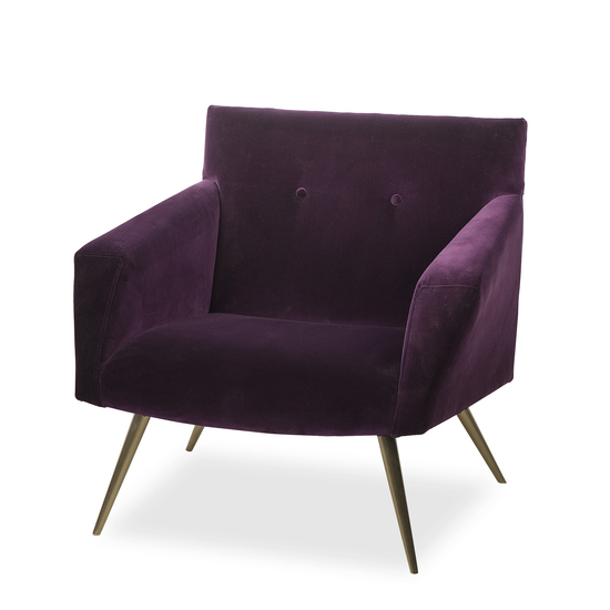 Kelly occasional chair vadit deep purple (uk)  sonder living treniq 1 1526881057210