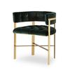 Art dining arm chair tufted green velvet mirrored brass  sonder living treniq 1 1526882529807