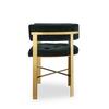 Art dining arm chair tufted green velvet mirrored brass  sonder living treniq 1 1526882529826