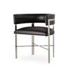 Art dining chair black leather stainless steel  sonder living treniq 1 1526882761026