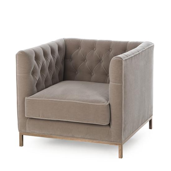 Vinci tufted occasional chair mohair  sonder living treniq 1 1526883073448