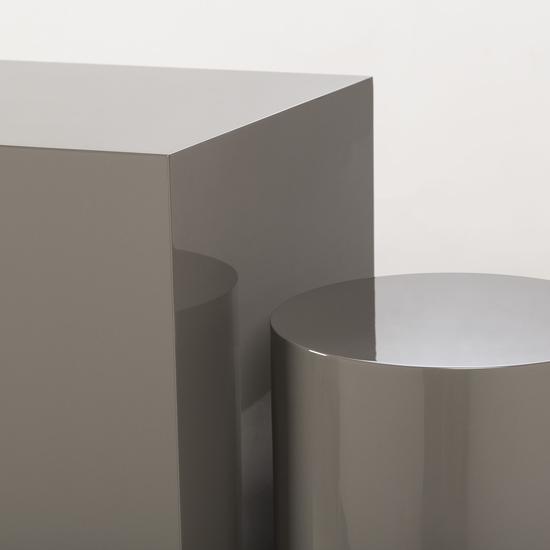 Morgan accent table square grey lacquer  sonder living treniq 1 1526906239436
