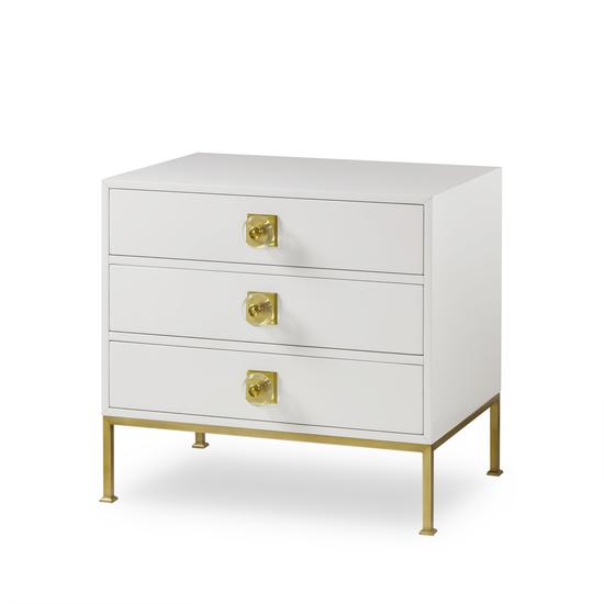 Formal chest 3 drawer white lacquer sonder living treniq 1 1526907425276