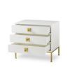 Formal chest 3 drawer white lacquer sonder living treniq 1 1526907425297