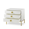 Formal chest 3 drawer white lacquer sonder living treniq 1 1526907437534