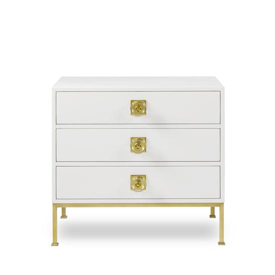 Formal chest 3 drawer white lacquer sonder living treniq 1 1526907425287